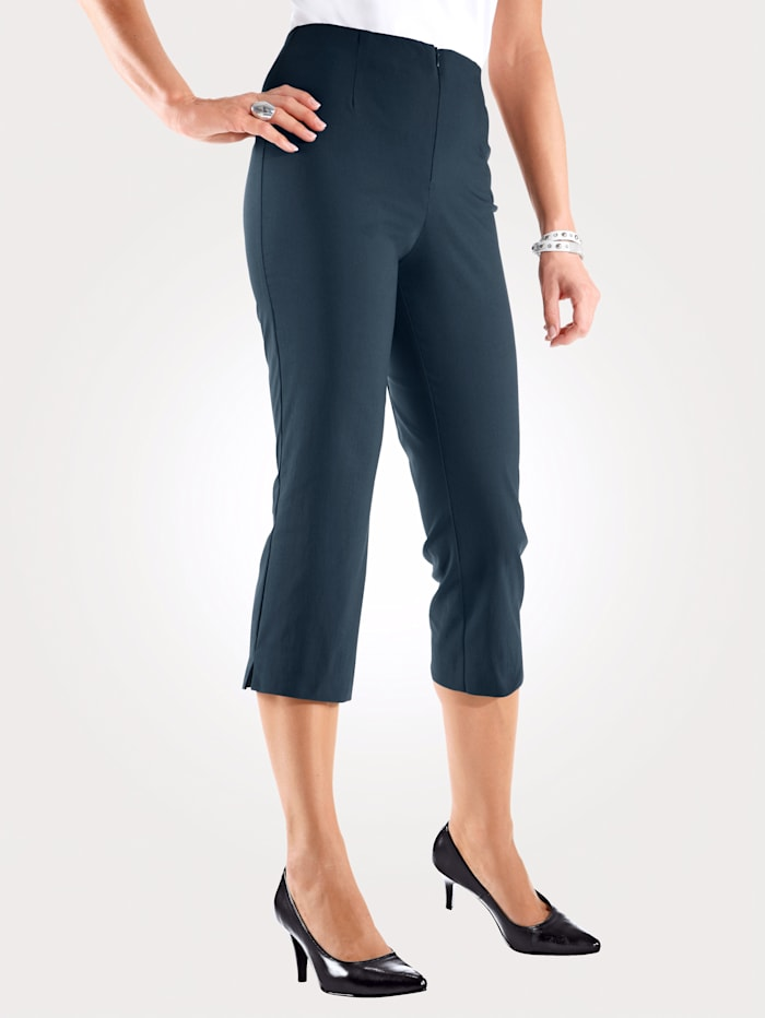 MONA Pull-on trousers made from a comfortable cotton blend, Navy