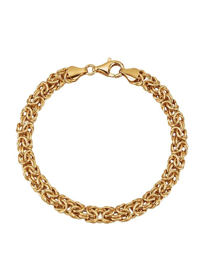 Bracelet maille royale en argent 925, Coloris or jaune
