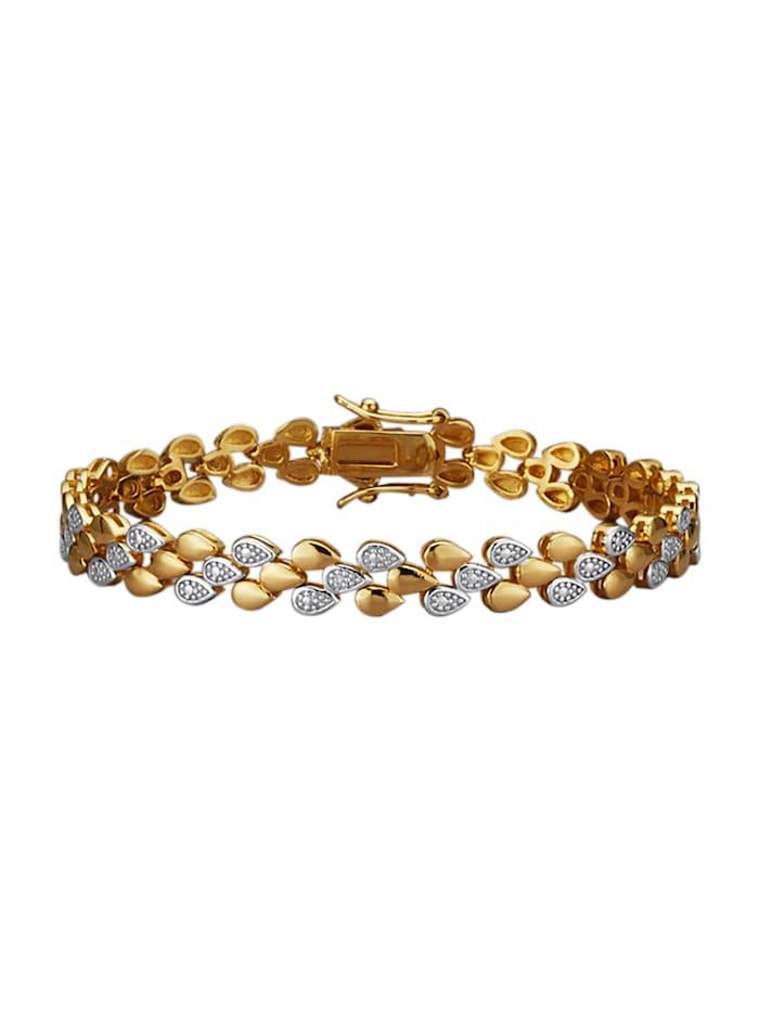 Armband met diamanten, Geelgoudkleur