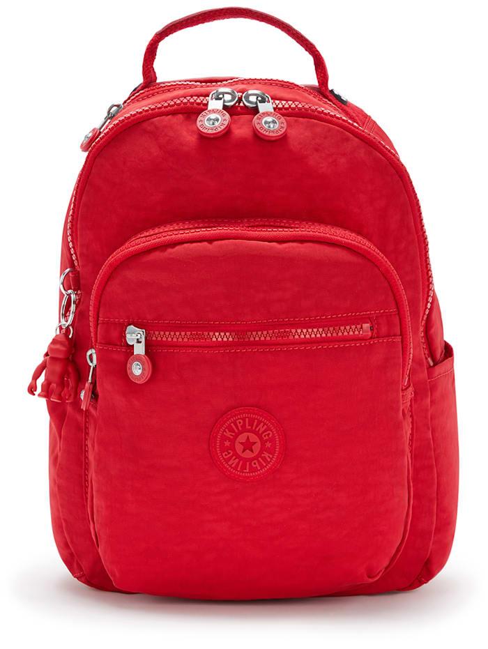 Kipling Basic Seoul S Rucksack 35 cm Laptopfach, red rouge
