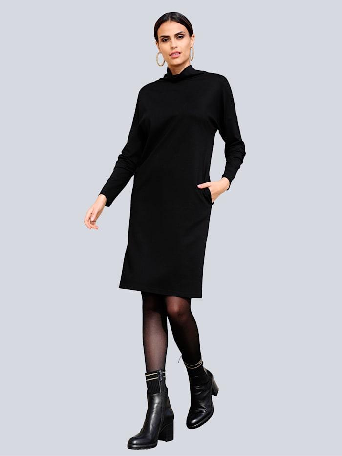 Alba Moda Jurk van comfortabel jerseymateriaal, Zwart