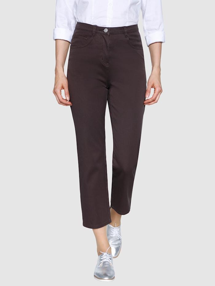 Dress In 7/8 Edeljeans in komfortabler Passform, Braun