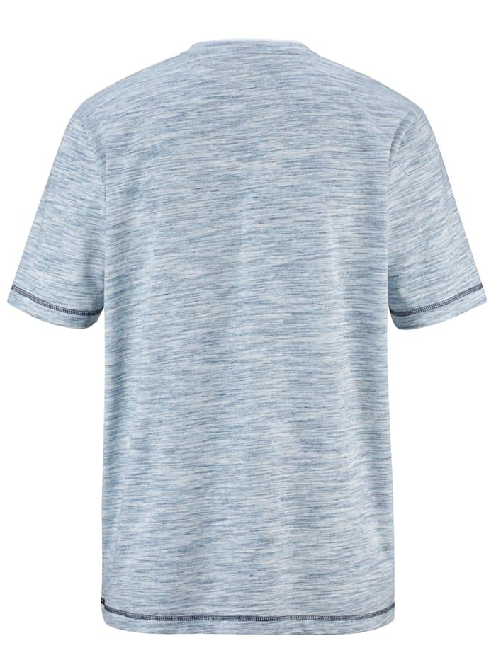 T-shirt col tunisien à effet superposé