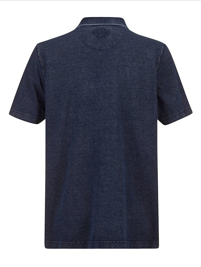 Poloshirt in gewaschenem Used-Look