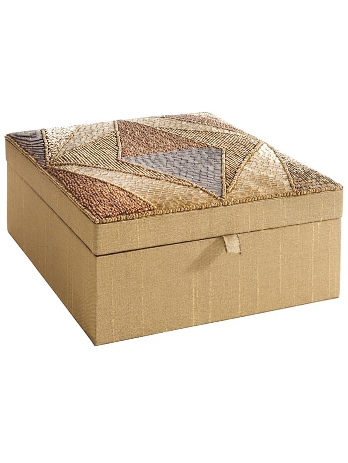KLiNGEL Sieradenbox, Kaki/Bronskleur/Geelgoudkleur
