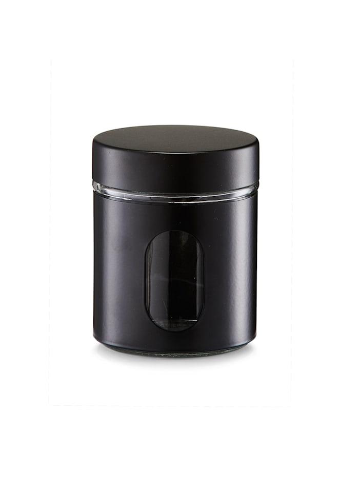 Neuetischkultur Vorratsglas 600 ml, Schwarz