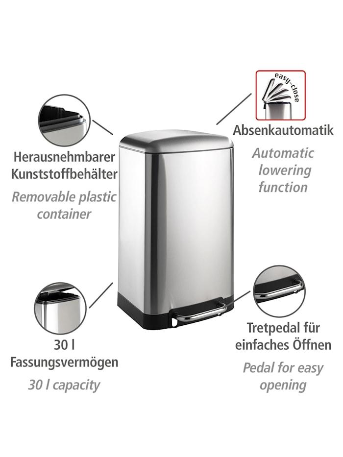 Treteimer Studio Easy-Close 30 L Edelstahl Mattiert, rostfrei, Absenkautomatik