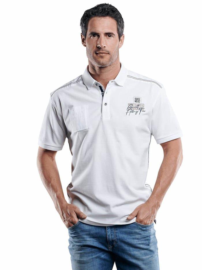 Engbers Stylisches Poloshirt mit Applikation, Reinweiss