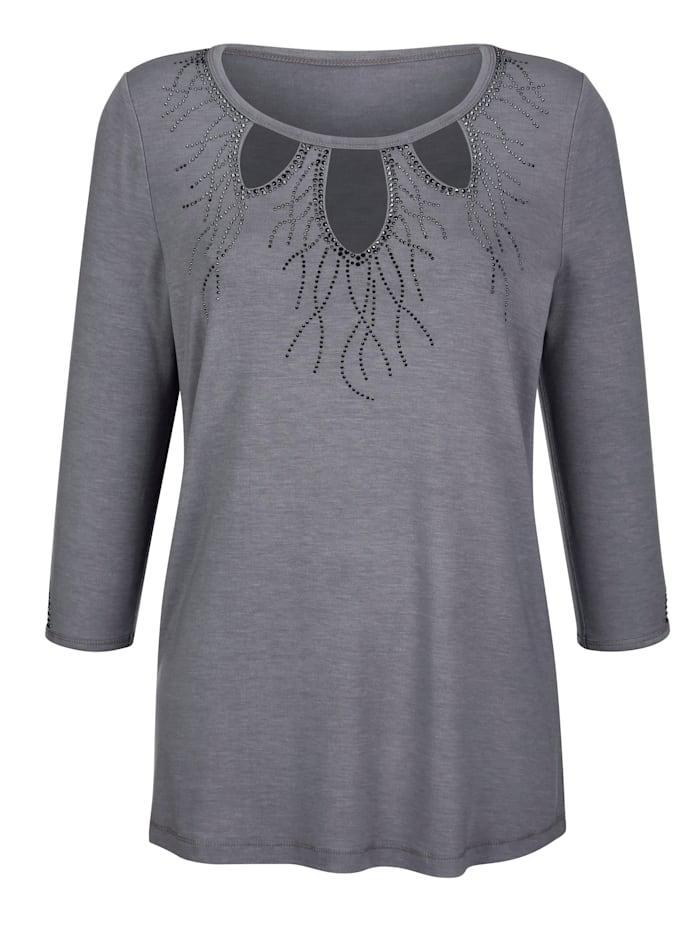 Shirt mit Cut-Outs am Ausschnitt