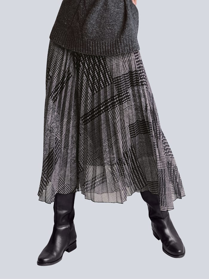 Alba Moda Rock im exklusiven Dessin von Alba Moda, Anthrazit/Grau