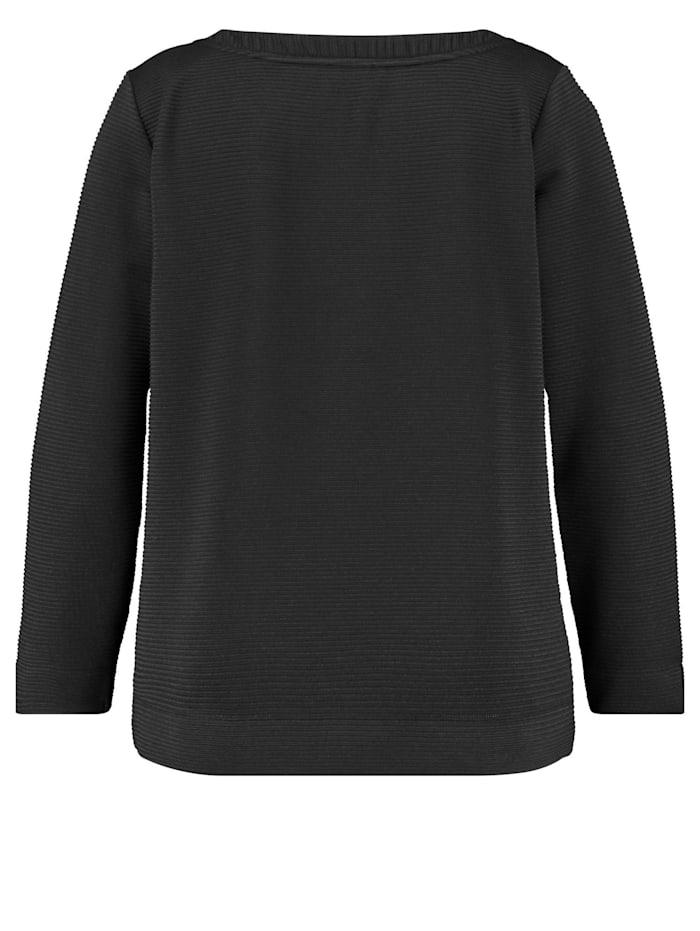 Langarmshirt aus Struktur-Jersey