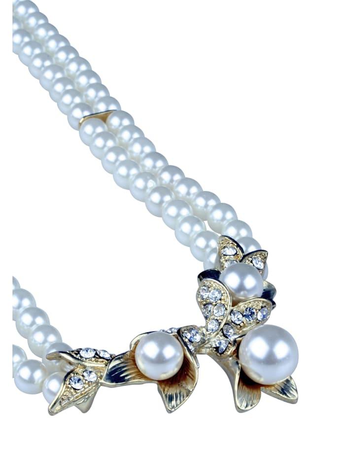 Kurze Kette Tara mit vielen Perlen