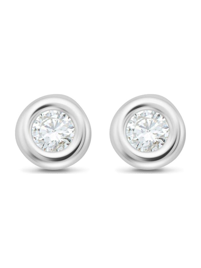 CHRIST Diamonds CHRIST Diamonds Damen-Ohrstecker 375er Weißgold 2 Diamant, weißgold