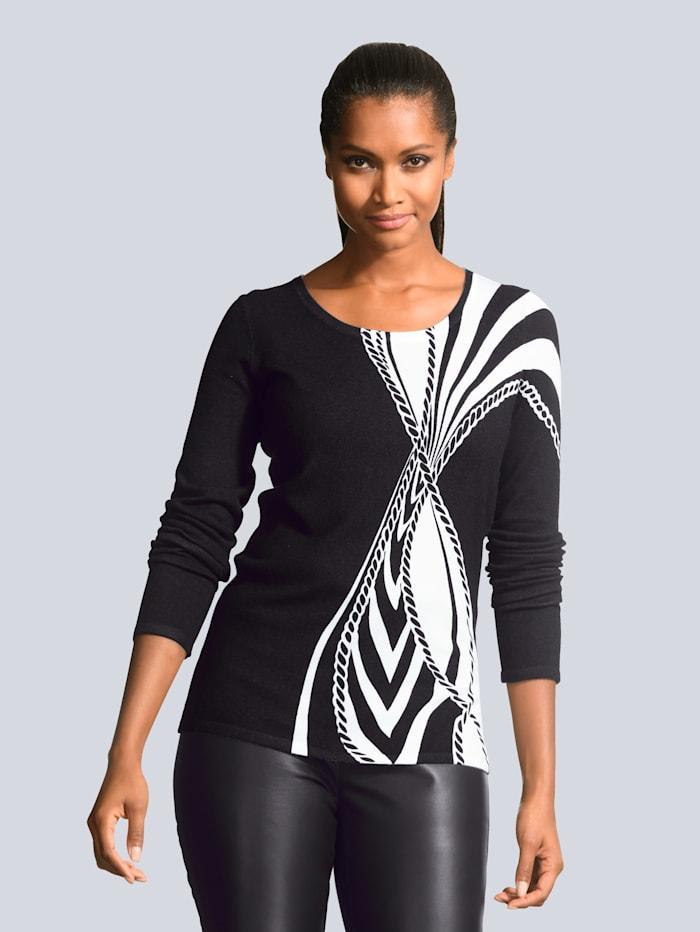 Pullover mit abstraktem Grafik Dessin