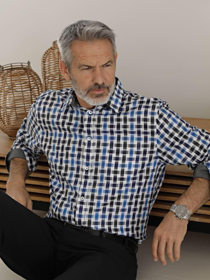 BABISTA Hemd mit besonderer Webart, Blau/Weiß