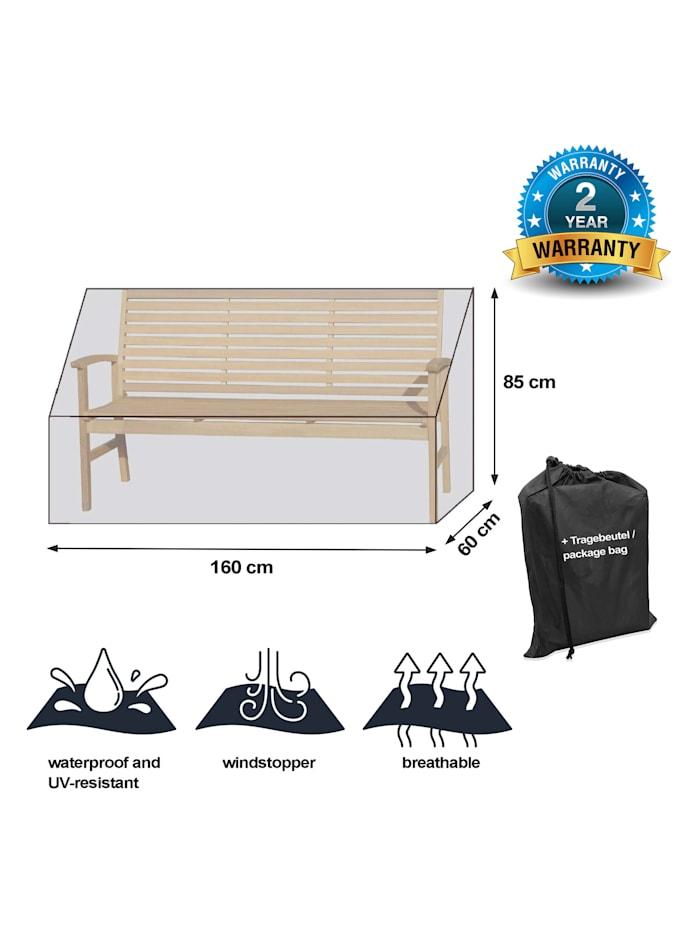 Black Premium Gartenbankhülle  160x60x85cm / garden bench cover /  atmungsaktiv / breathable