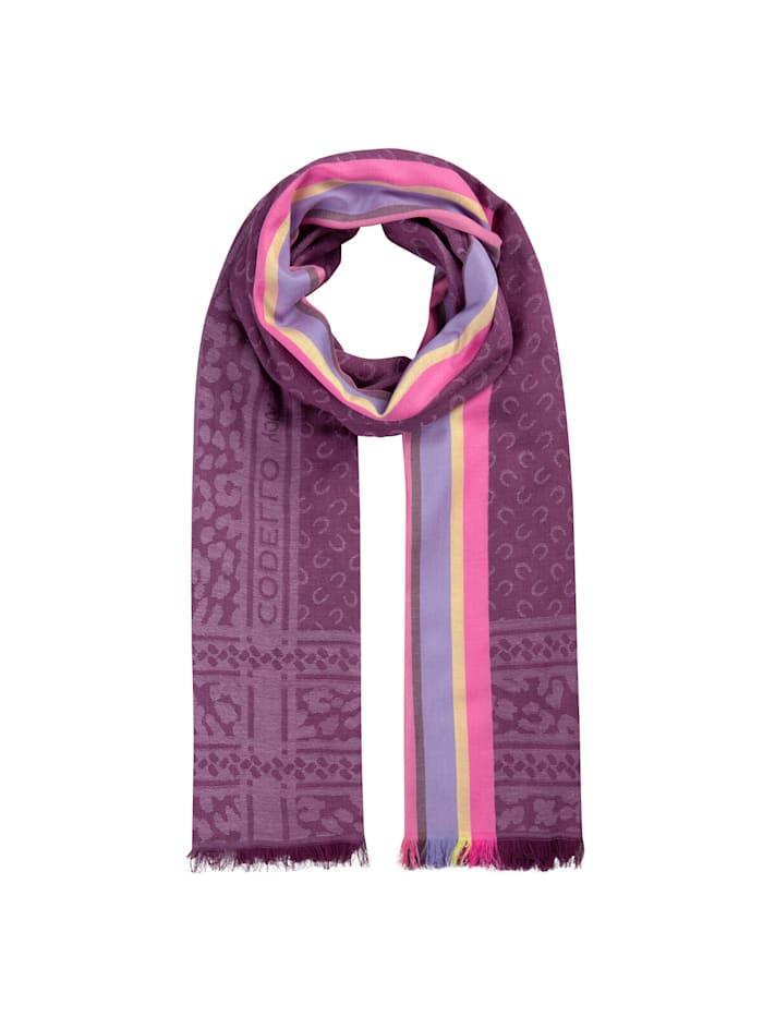Codello Logo-Schal aus Baumwolle und Modal, light rose