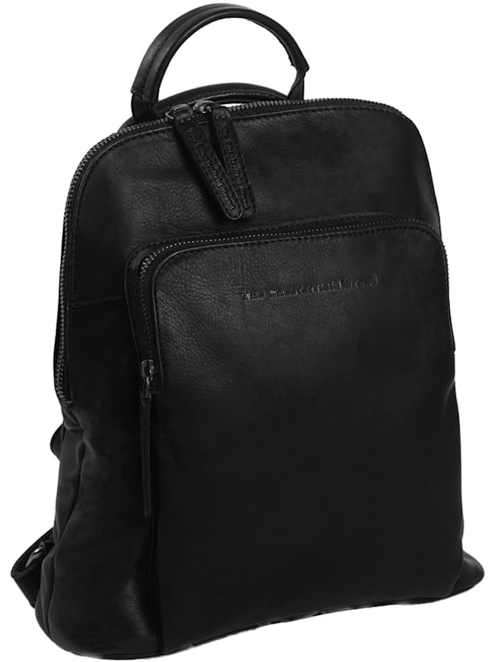 The Chesterfield Brand Wax Pull Up Sienna City Rucksack Leder 30 cm, schwarz