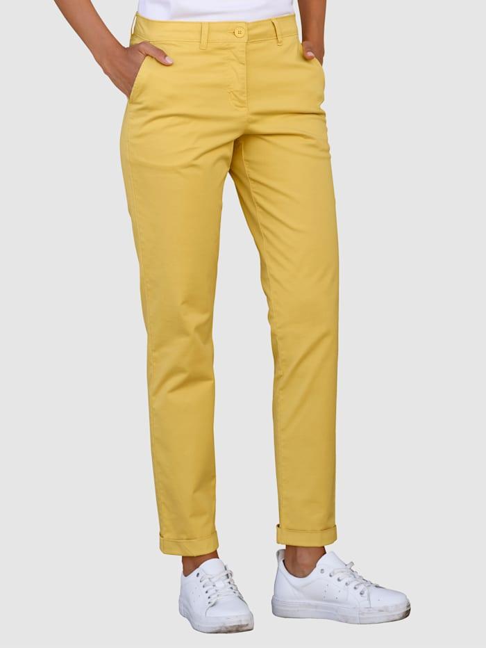 Laura Kent Hose Slim Fit in elastischer Pima-Cotton Qualität, Ockergelb