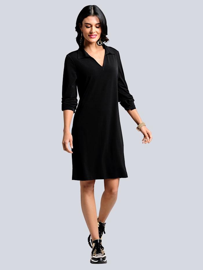 Alba Moda Jurk van comfortabele jersey, Zwart
