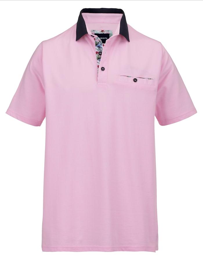 BABISTA Poloshirt in zweifarbiger Optik, Rosé