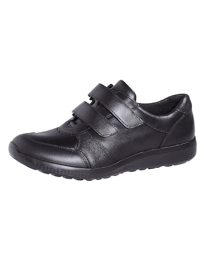 Waldläufer Slipper obuv s Ortho-Tritt výbavou, Čierna