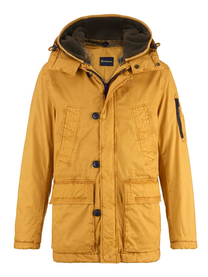 BABISTA Parka in modieuze used look, Geel