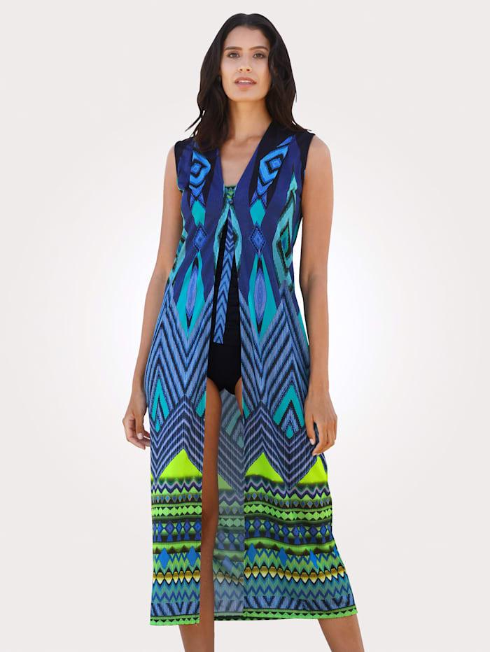 Sunflair Plážové šaty v dlhom strihu, Modrá/Zelená