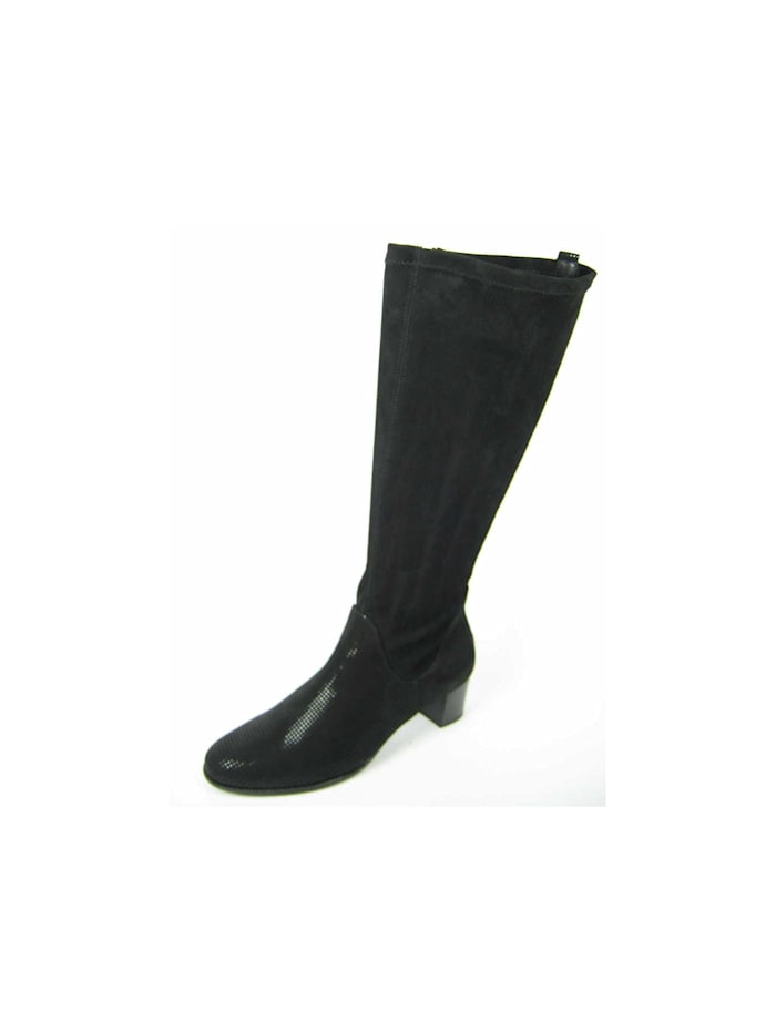 Hassia Damen Stiefel in schwarz, schwarz