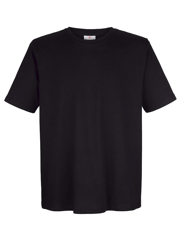 Boston Park T-Shirt aus reiner Baumwolle, Schwarz