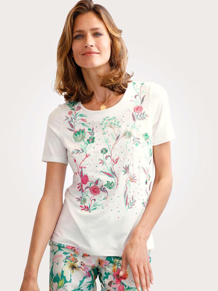 T-shirt à broderie florale