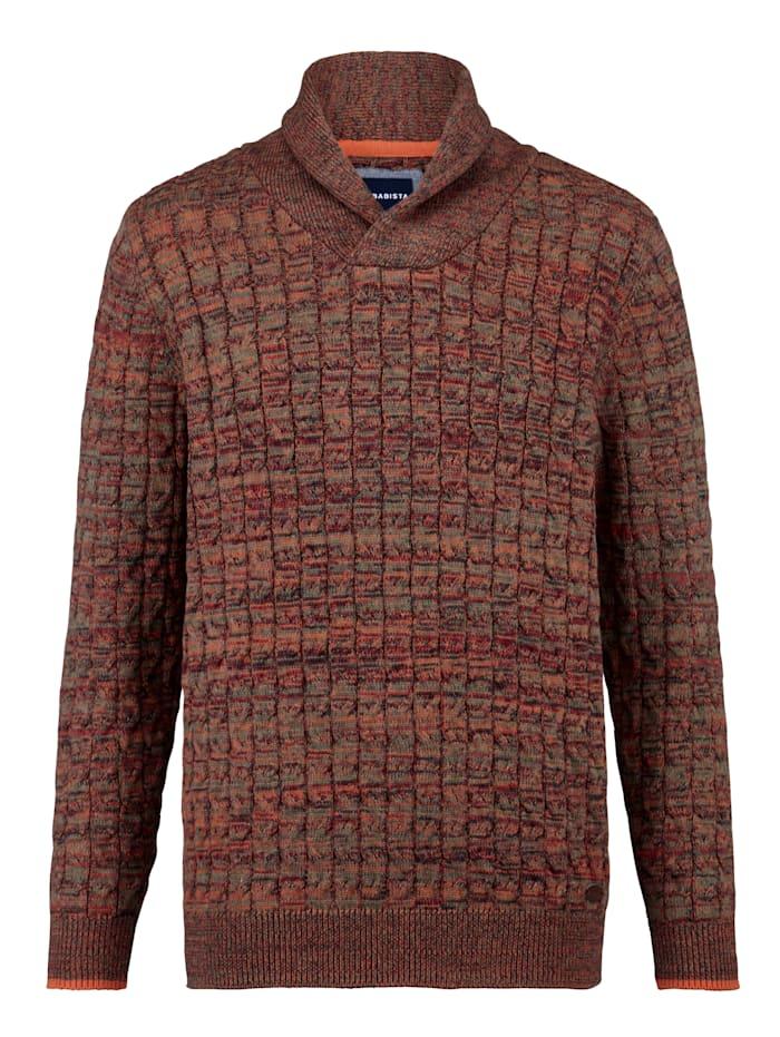 Pullover mit modischem Schalkragen