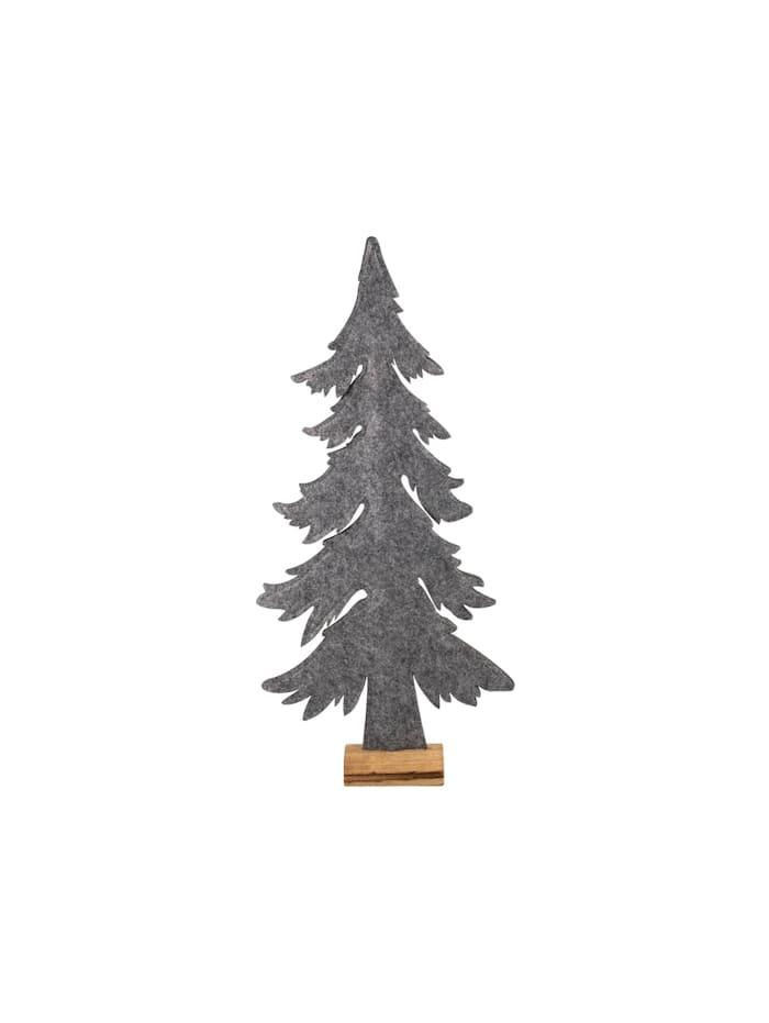 HTI-Living Weihnachtsbaum auf Holzsockel, Grau