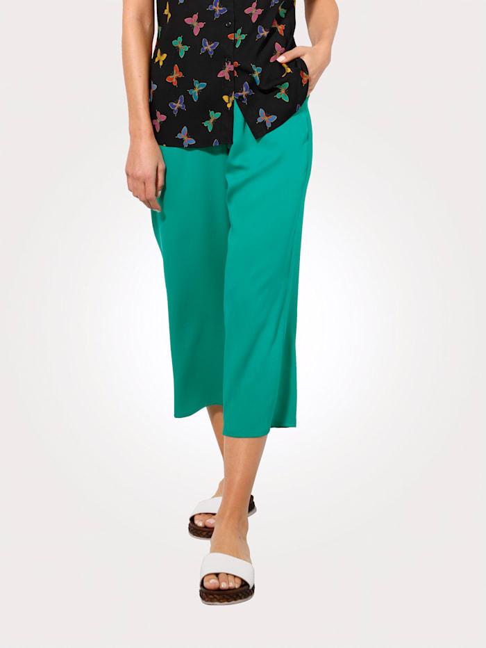 MONA 7/8 Hose in Sommerlicher Farbe, Grün