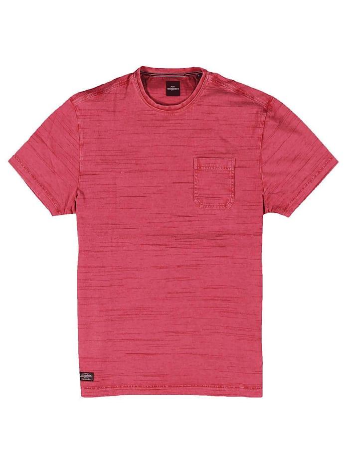Engbers T-Shirt Rundhals gestreift, Feuerrot