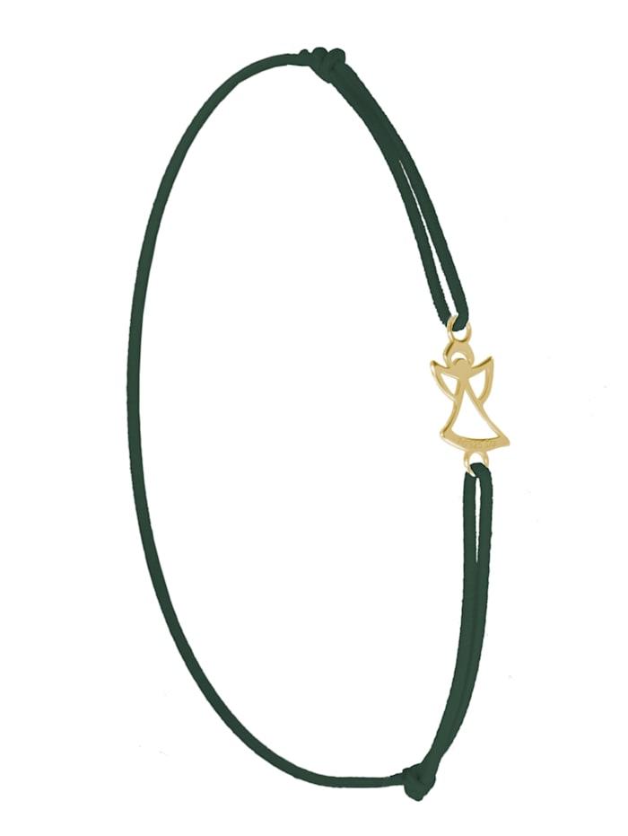 1001 Diamonds Engel Armband 925 Silber vergoldet, grün