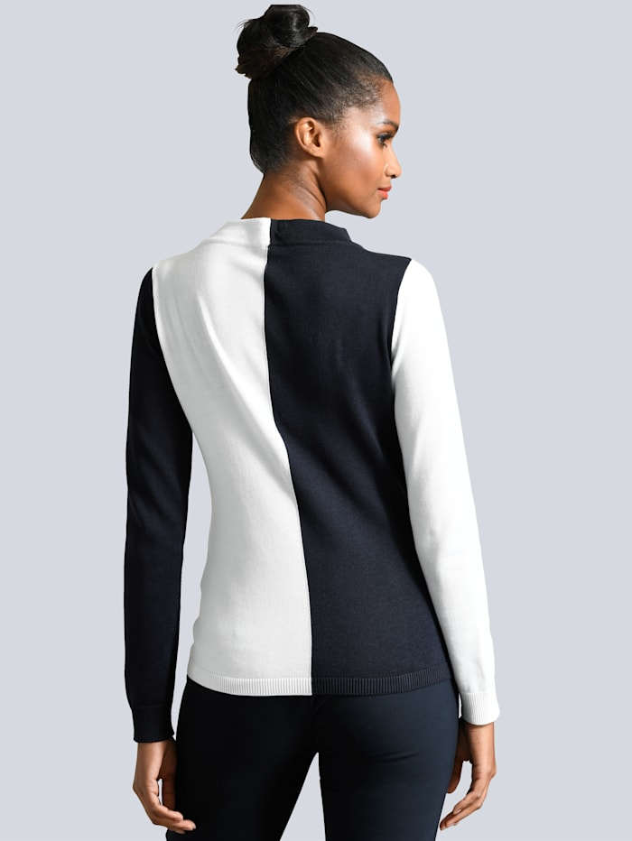 Pull-over d'aspect colour block