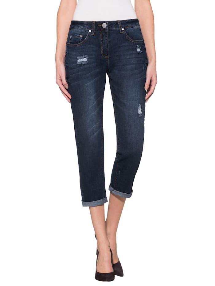 Alba Moda Jeans im Boyfriend-Style, Blau