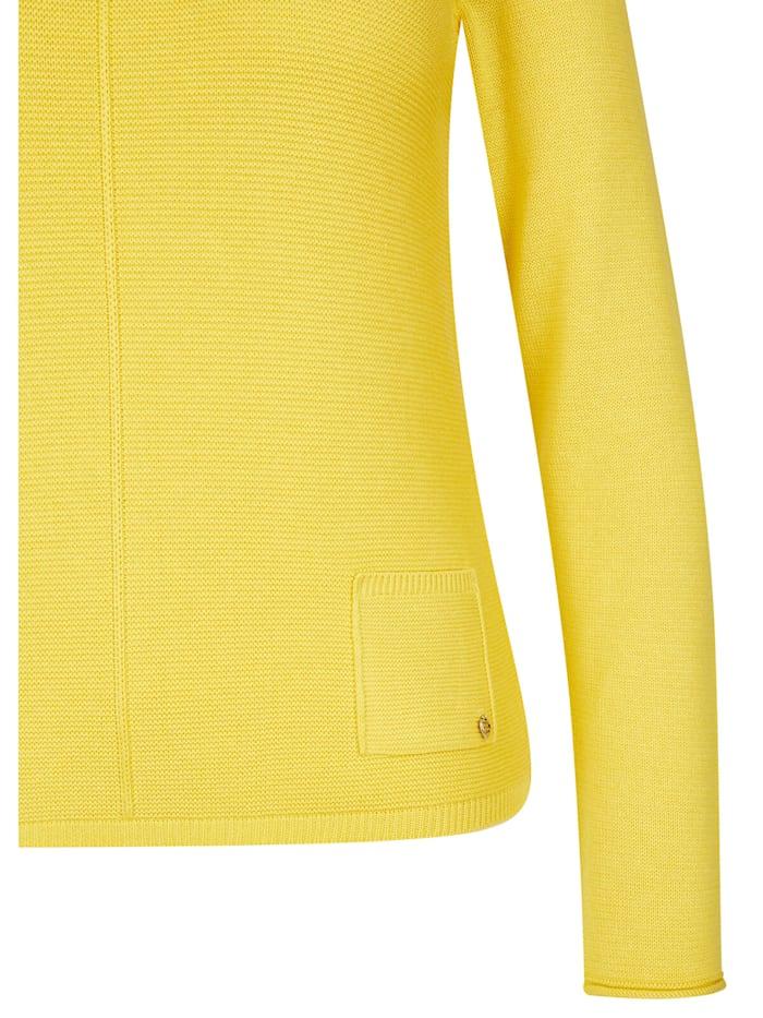 Pullover im Uni-Design mit Rollsäumen