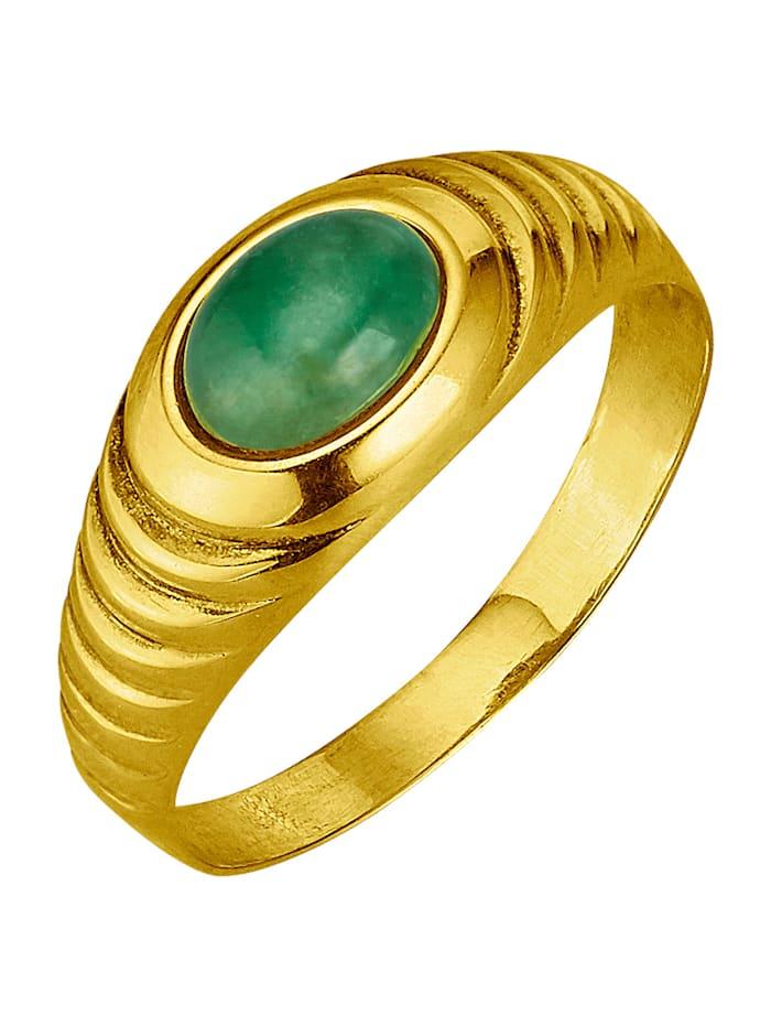 KLiNGEL Damesring met smaragd, Groen