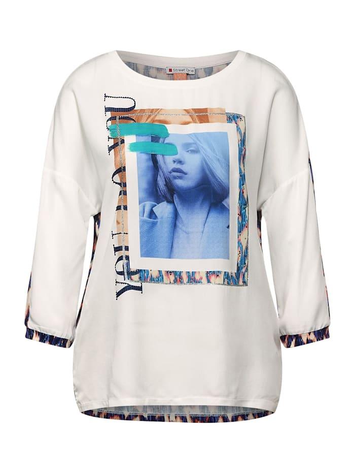 Street One Shirt mit Fotoprint, off white