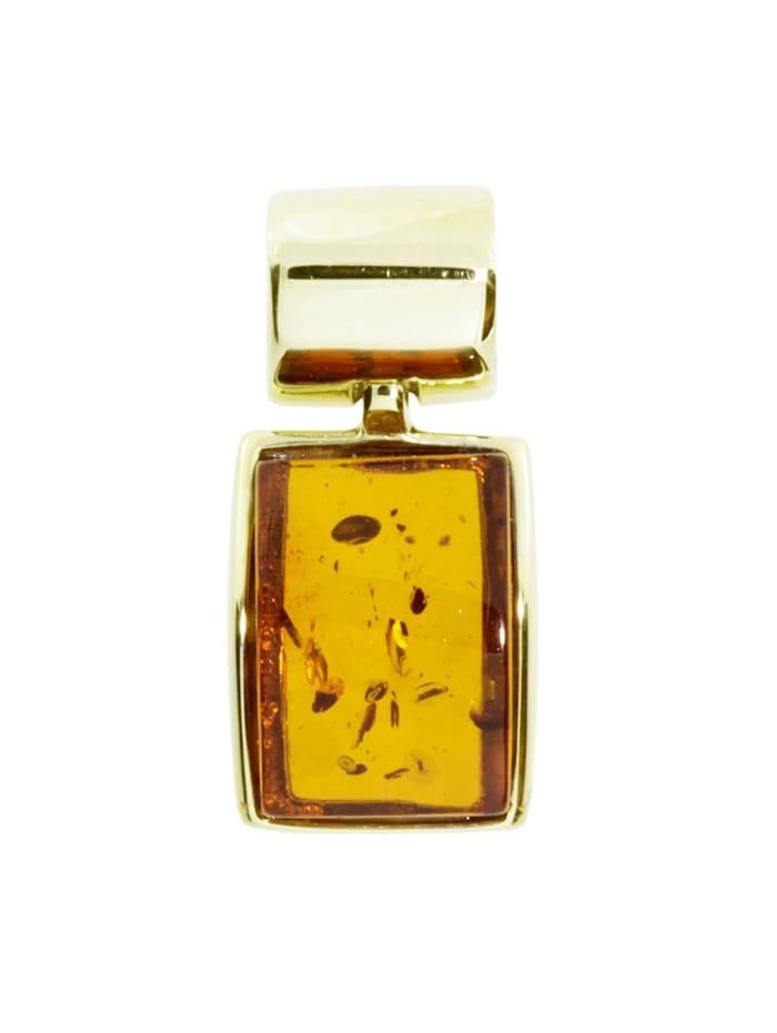 OSTSEE-SCHMUCK Anhänger - Jasmina - Gold 333/000 - Bernstein, gelb