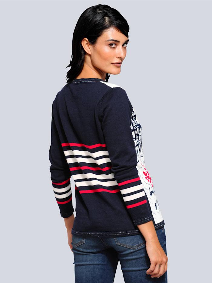Pullover mit ausdrucksstarkem Druckmotiv