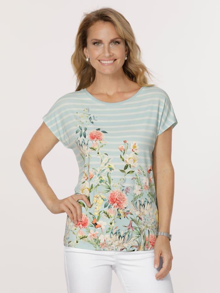 MONA Shirt met bloemendessin, Mint/Multicolor