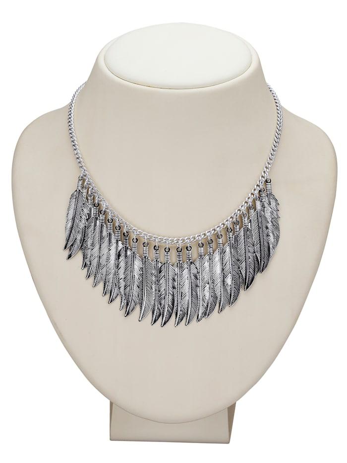 KLiNGEL Collier mit Einhängern, Silberfarben