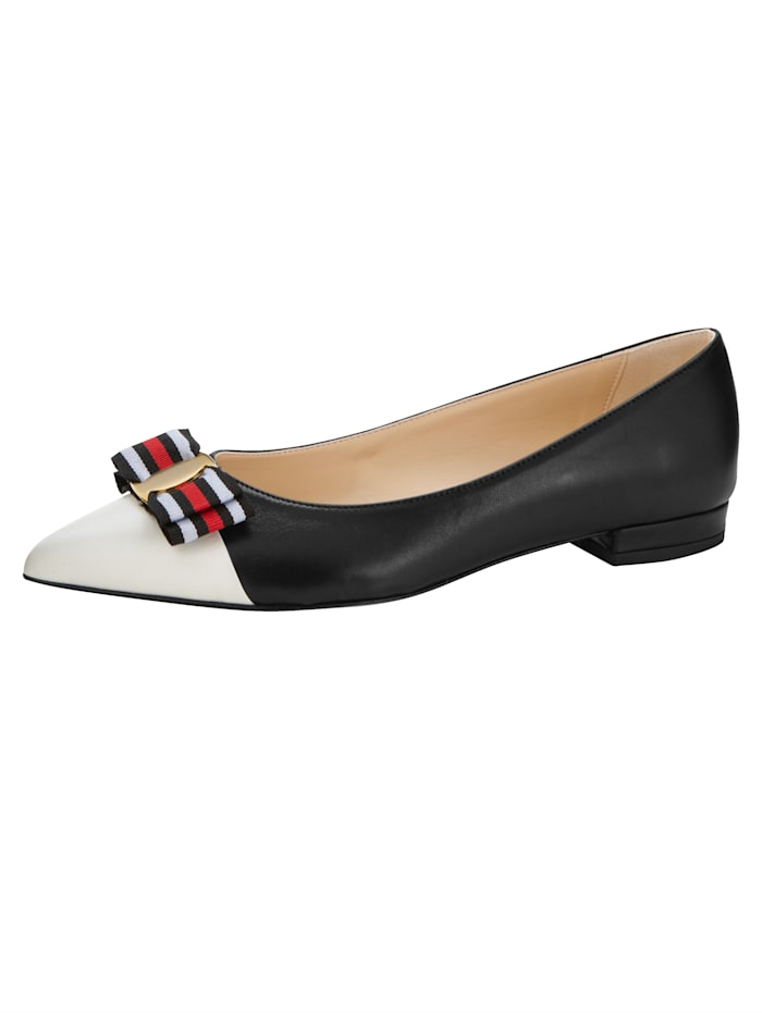 Ballet Court shoes with bow detail, Black