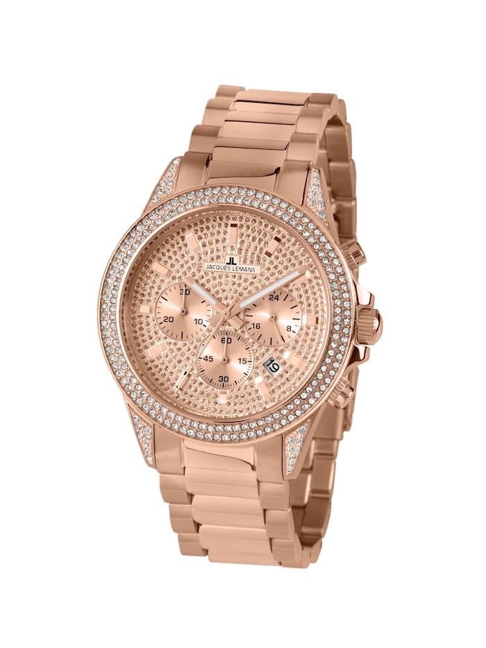 Jacques Lemans Damen-Chronograph Uhr SERIE LA PASSION 1-2051B, Rosé
