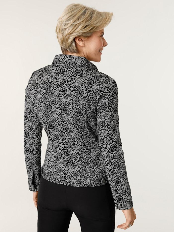Jeansjacke aus Floraler Jacquard- Qualität