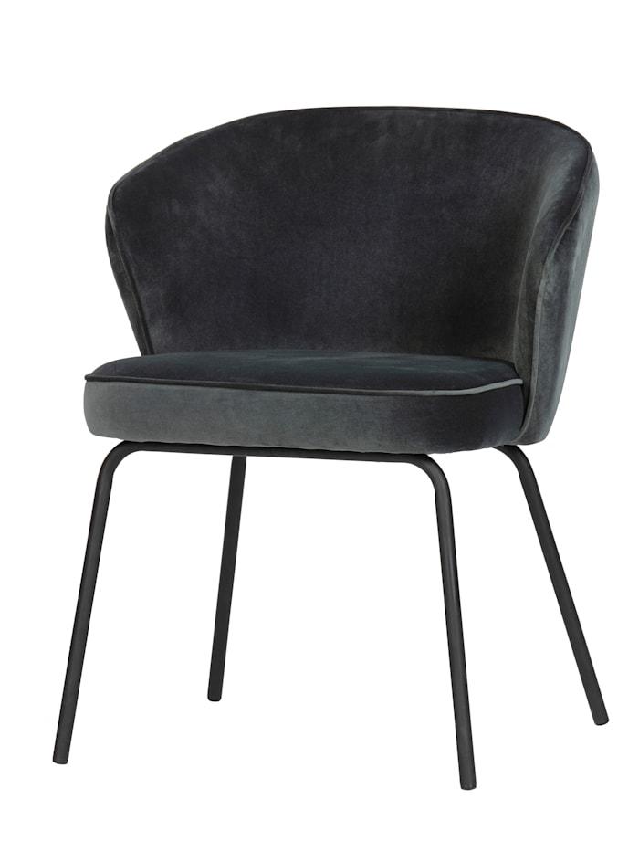 BePureHome Stuhl mit Samtbezug, blau