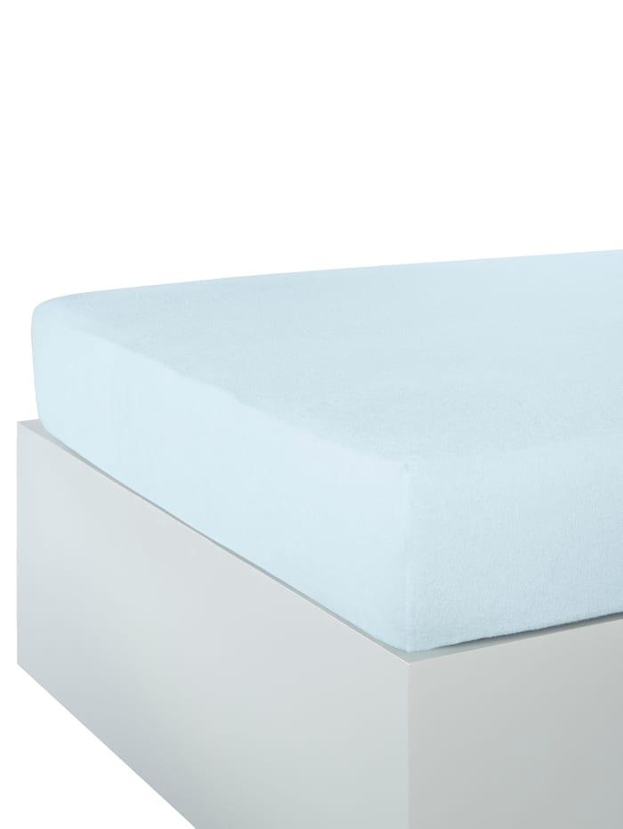 Webschatz Frottee-Stretch Spannbettlaken, bleu